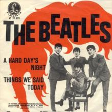 THE BEATLES DISCOGRAPHY AUSTRIA 020 A HARD DAY'S NIGHT ⁄ THINGS WE SAID TODAY - O 28 521 - pic 1