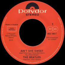 THE BEATLES DISCOGRAPHY AUSTRIA 050 AIN'T SHE SWEET ⁄ WOOLY BULLY - POLYDOR 863 186-7 A / 863 186-7 B ⁄ LEINER - pic 1